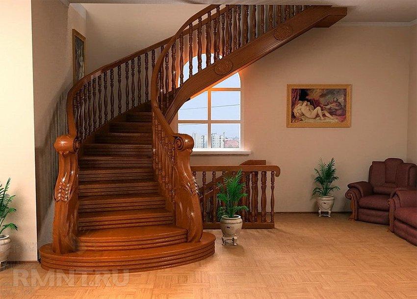 Как сделать красивую лестницу в доме