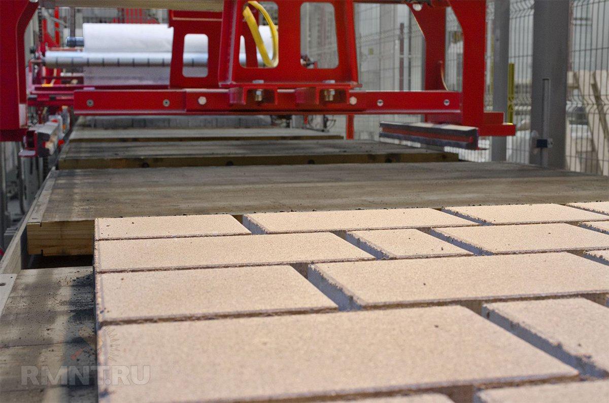 Изготовление тротуарной плитки методом вибропрессования