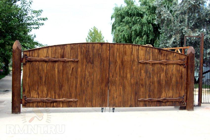 фото деревянных калиток и ворот