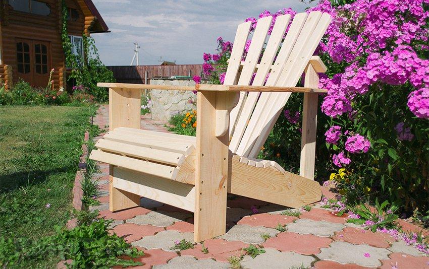 Адерондок: кресло для отдыха на даче своими руками