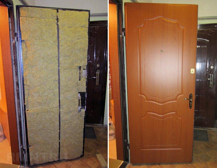 Облицовка двери мдф панелями