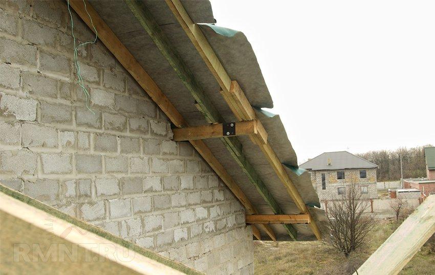 Как сделать фронтонный свес на крыше 316