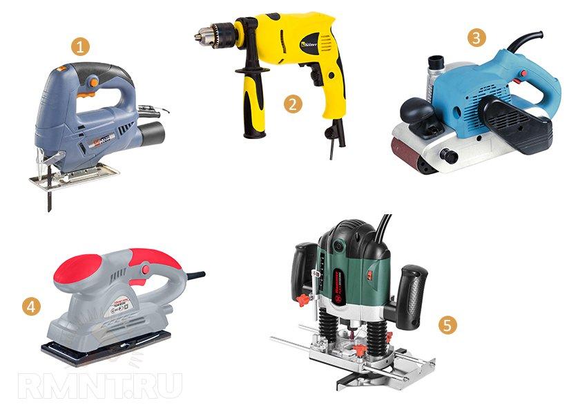 Электрические инструменты для изготовления наличников