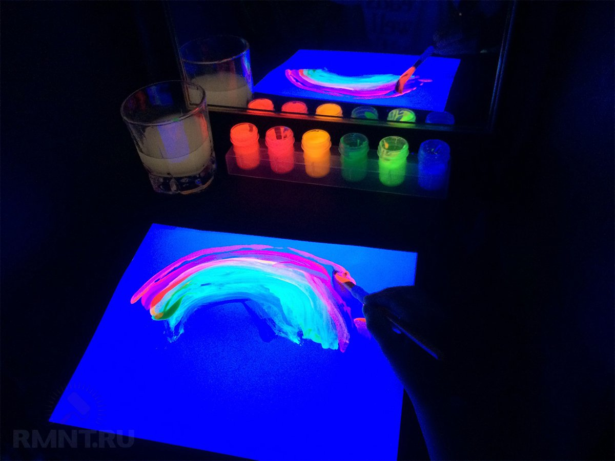 Как сделать светящеюся краску в домашних условиях видео