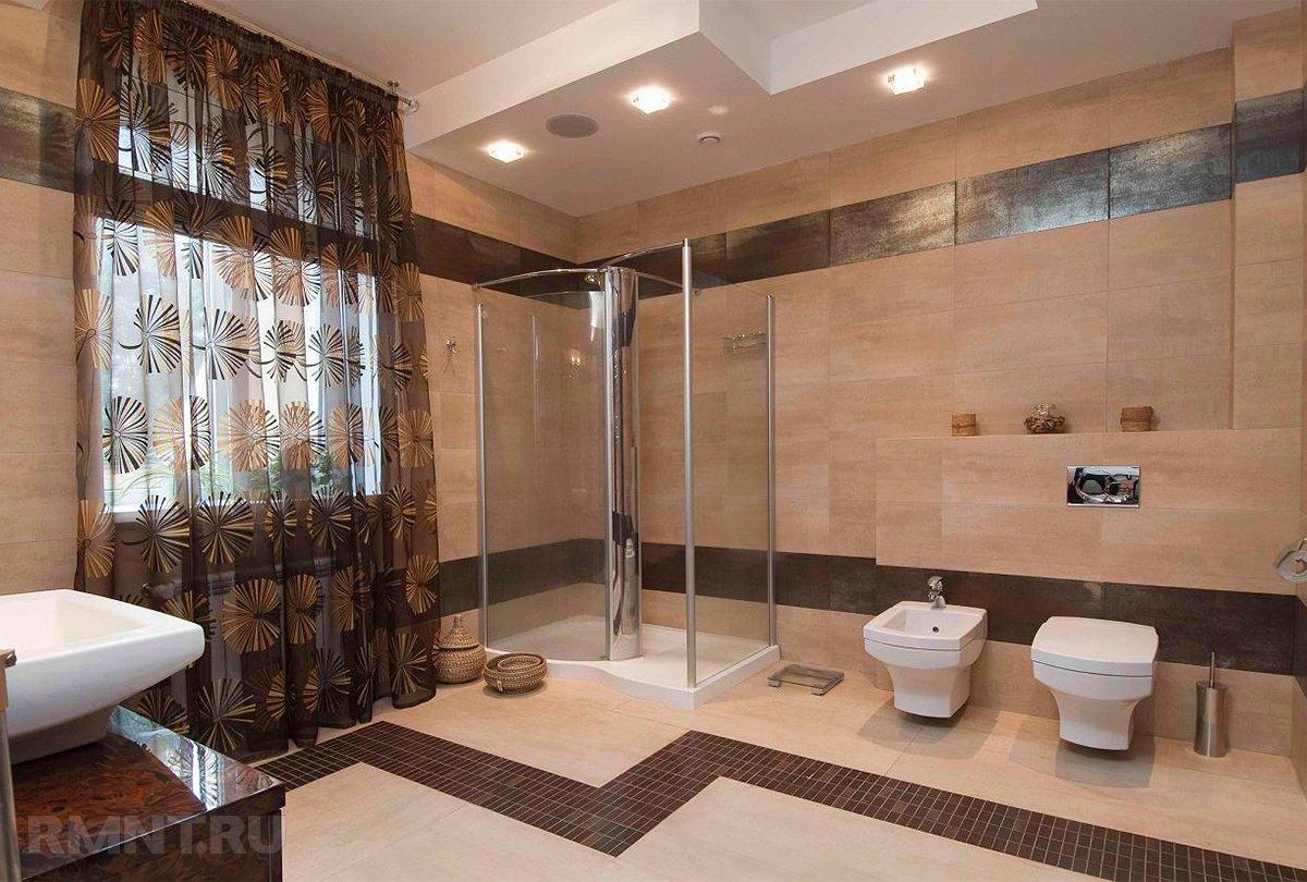 Варианты оформления потолка в ванной комнате