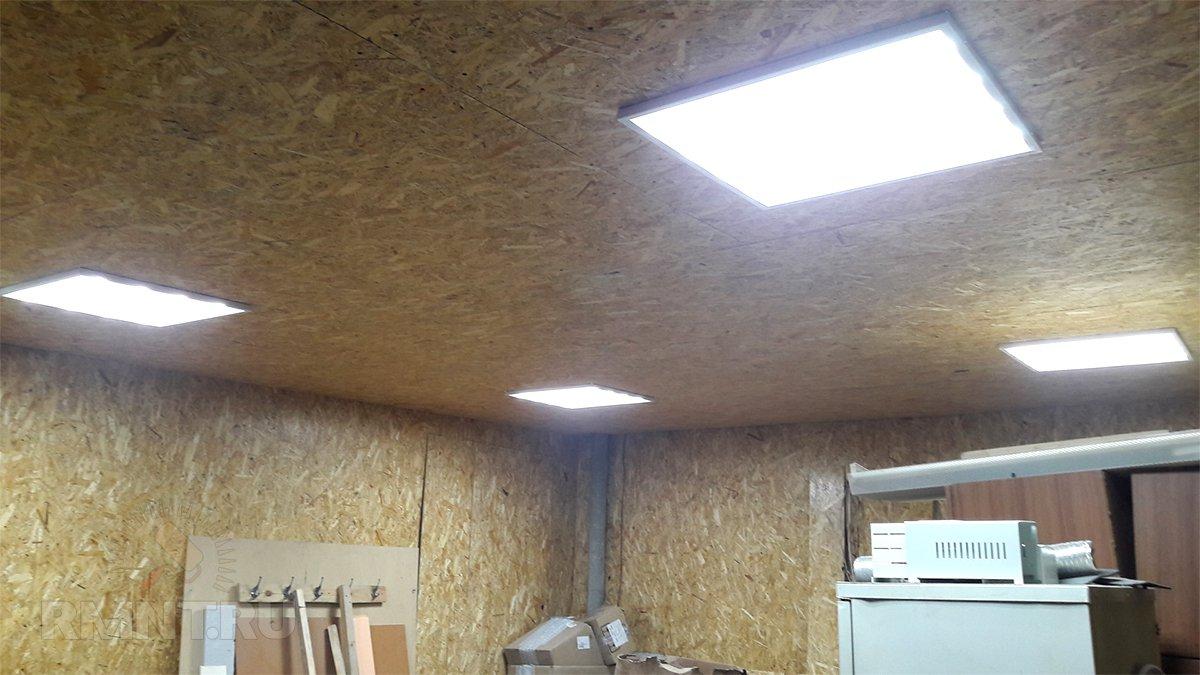 Как сделать лампы в гараже 861