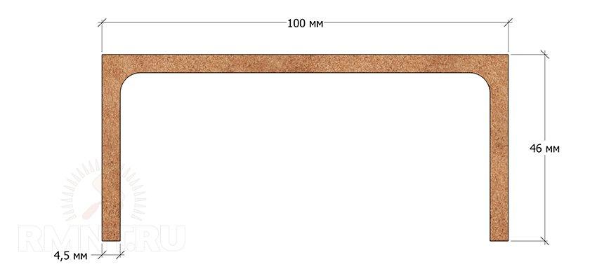 Размеры швеллера 10П