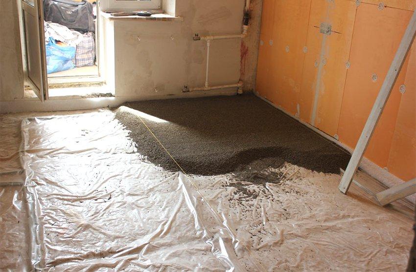 Быстросохнущая стяжка для ванной комнаты своими руками 128