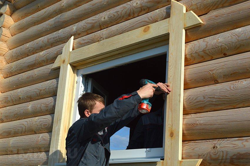 Отделка деревянных окон своими руками 222