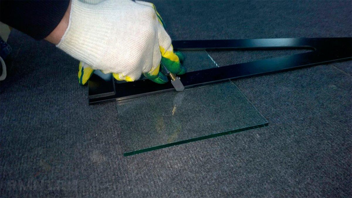 Как резать стекло масляным или алмазным стеклорезом