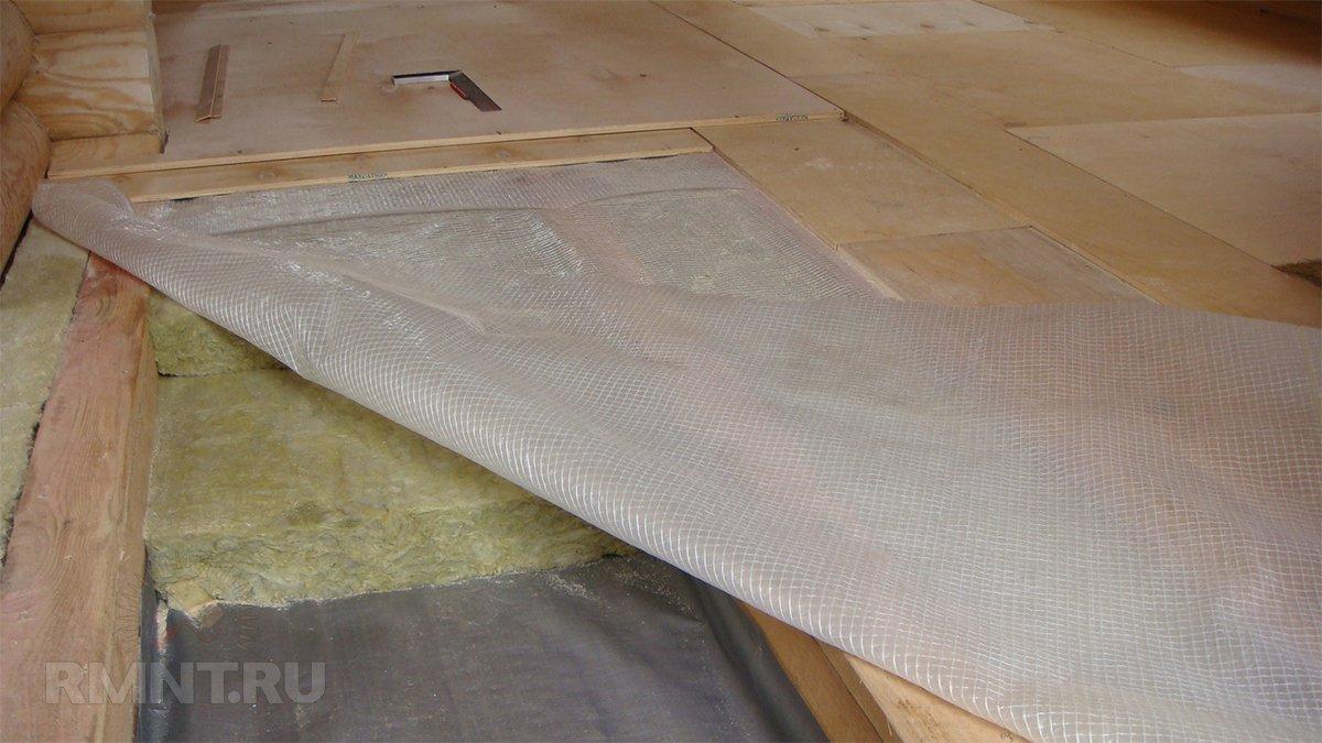 Утепление и отделка межэтажного перекрытия по деревянным балкам