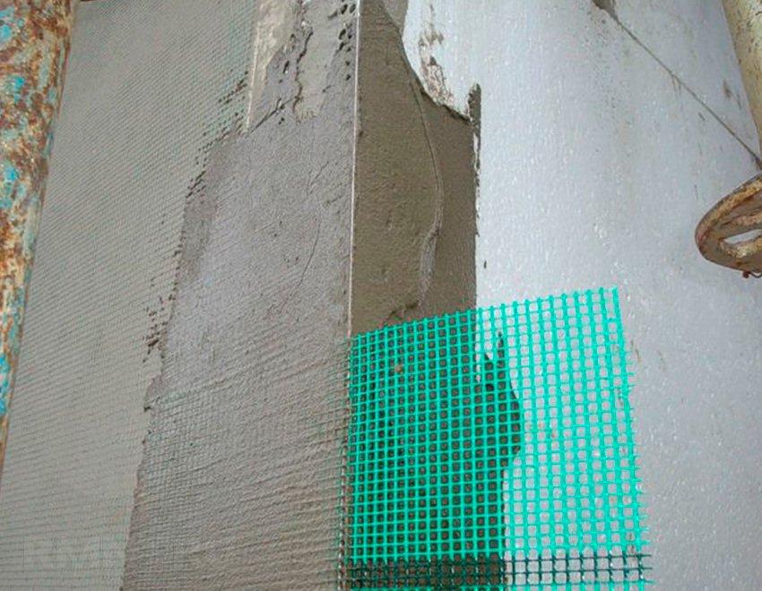 Армирование мокрого фасада