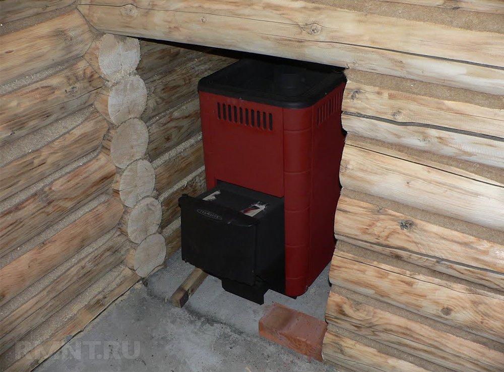 Фундамент для железной печи в баню
