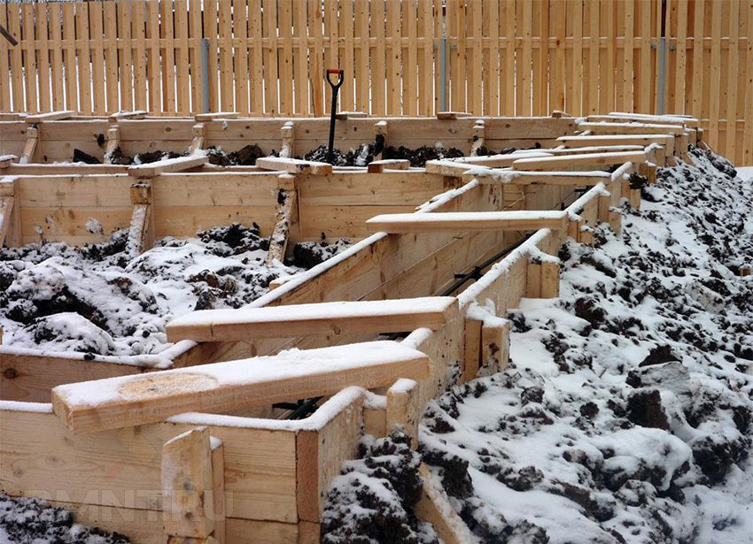 Устройство фундамента в зимний период