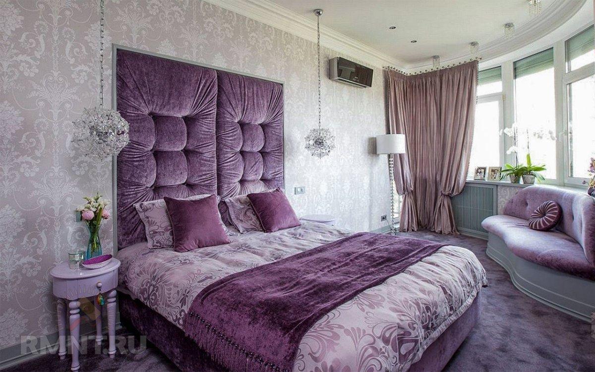 Романтичный интерьер спальни