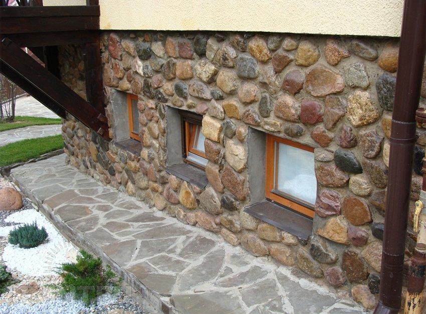 Отделка своими руками фасада природным камнем 100