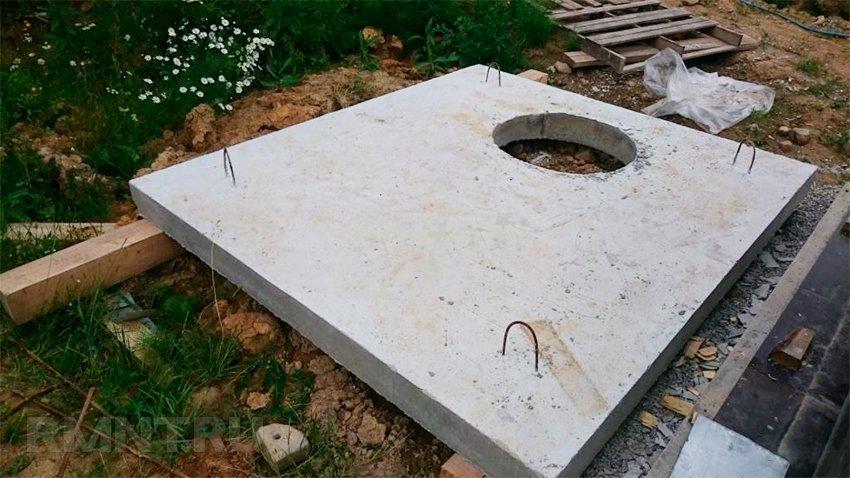 Крышка кессона из бетона