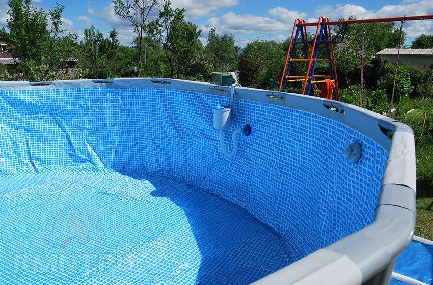 Уход за надувным бассейном на даче своими руками 71