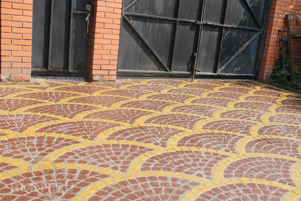 Вибролитая тротуарная плитка под натуральный камень