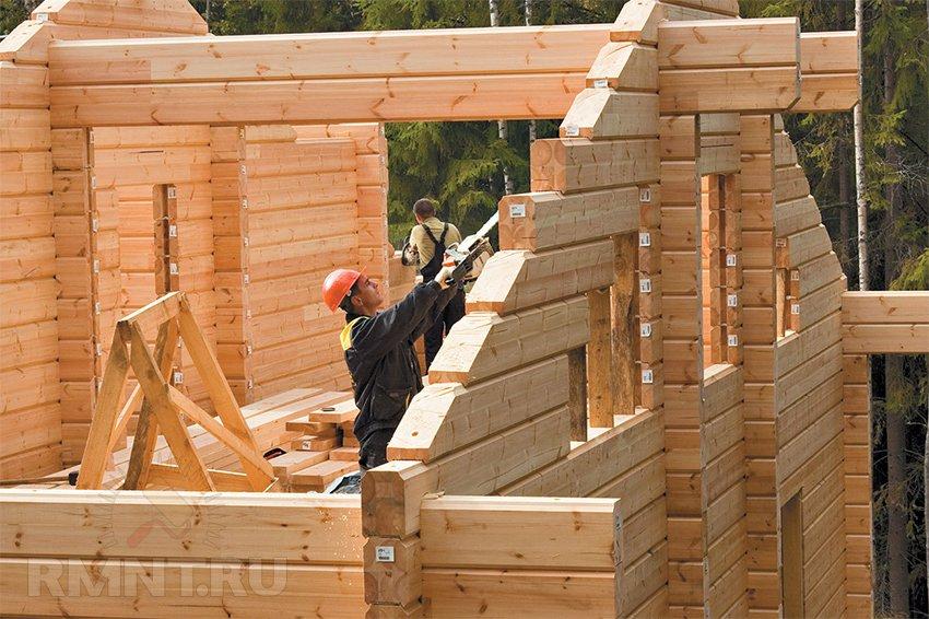Профилированный брус как строить