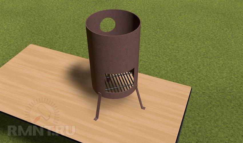 Печь для казана из металла своими руками чертежи и фото