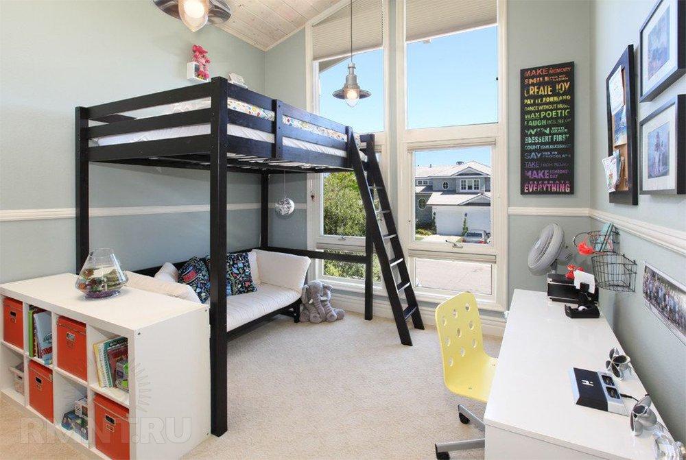 Деревянная детская кровать-чердак