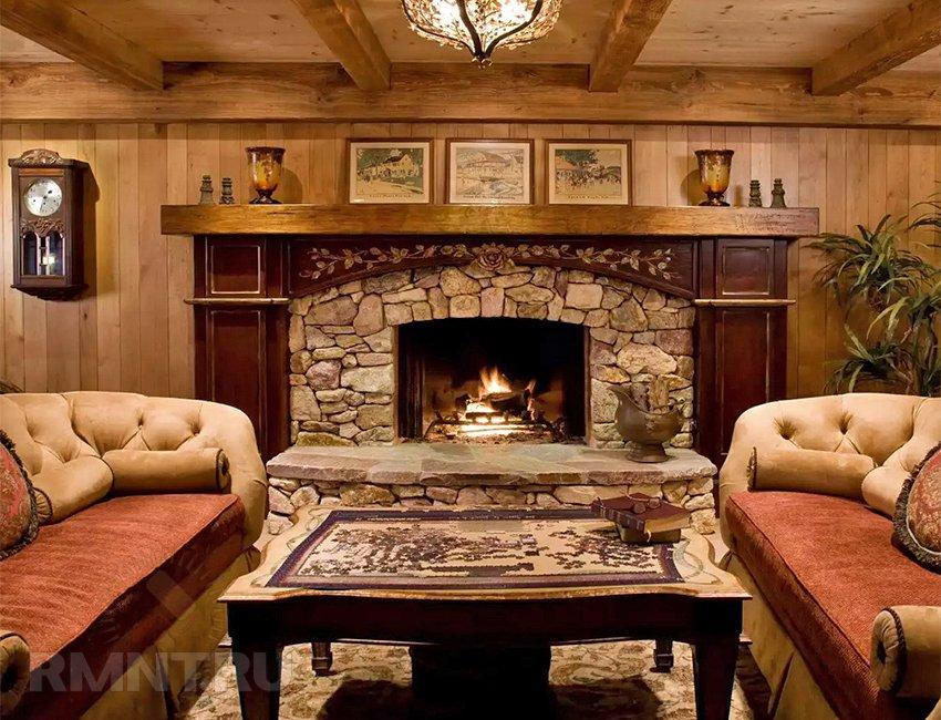 Интерьер гостиной в стиле шале: 5 особенностей гармоничного пространства
