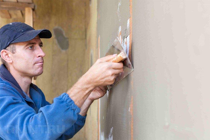 Технология мокрый фасад — нанесение штукатурки