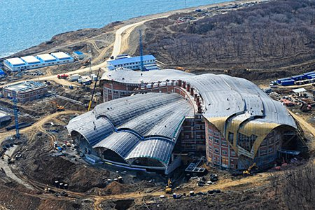Океанариум на острове Русский достроят до конца 2015 года