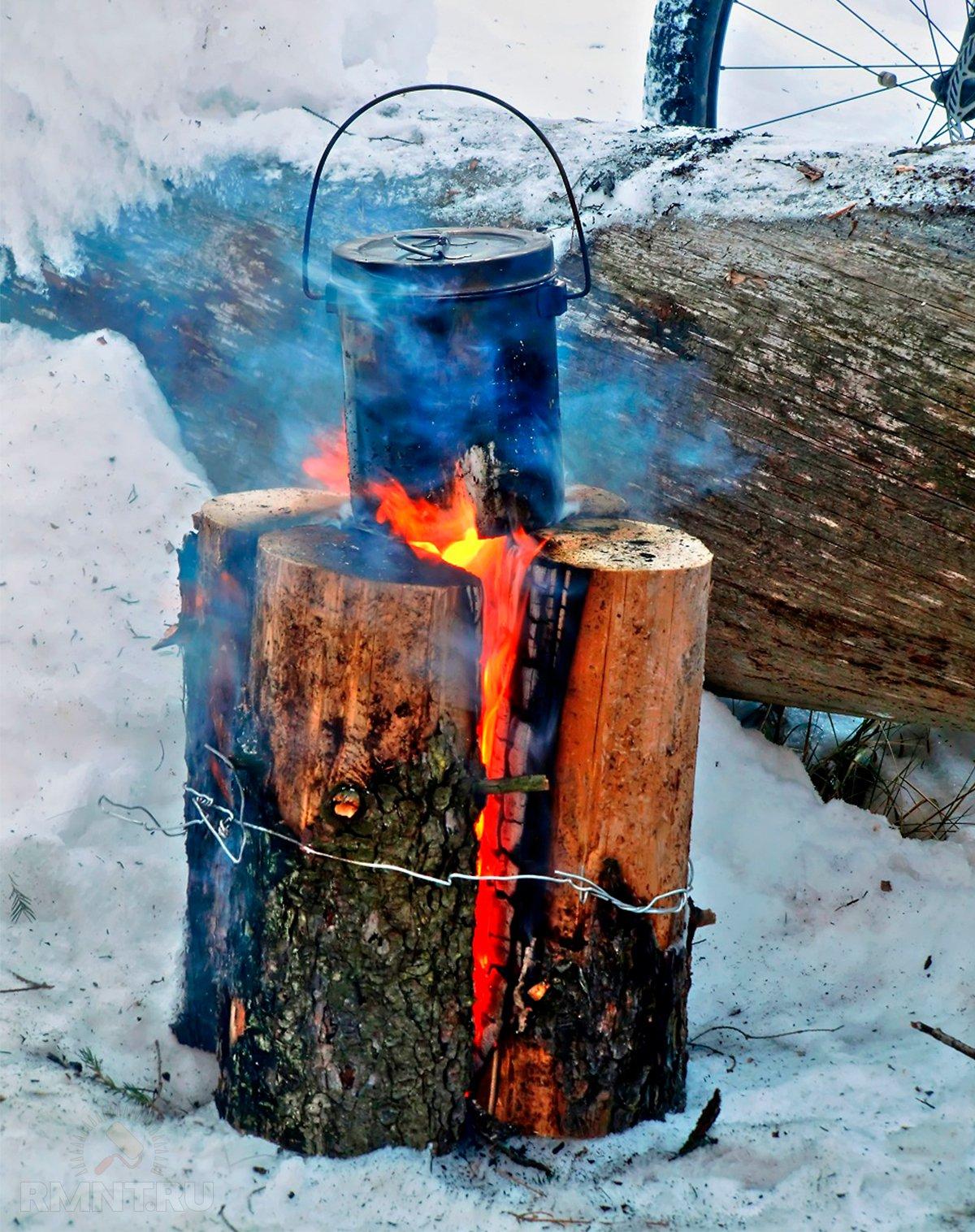 Шведская или финская свеча — самый простой очаг своими руками