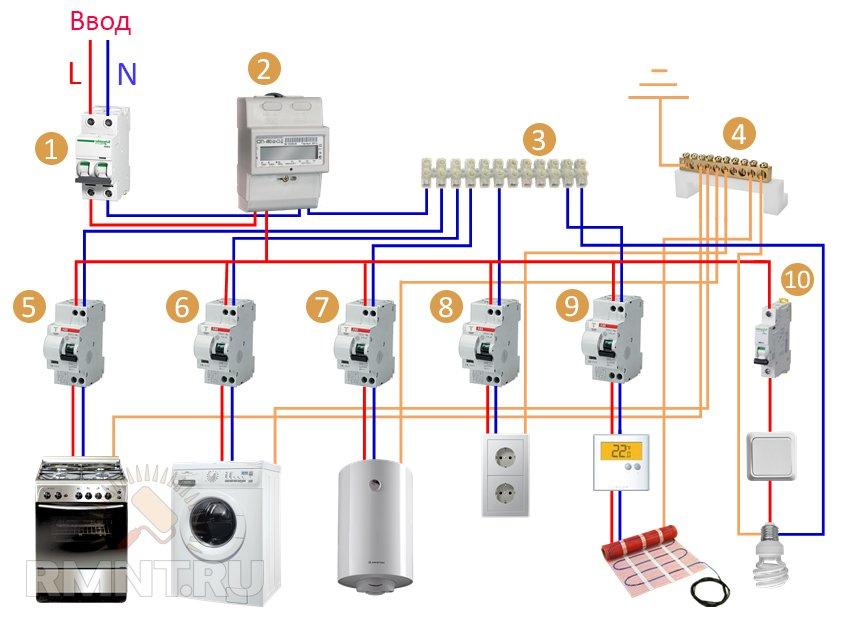 Схема подключения электрики своими руками фото 115