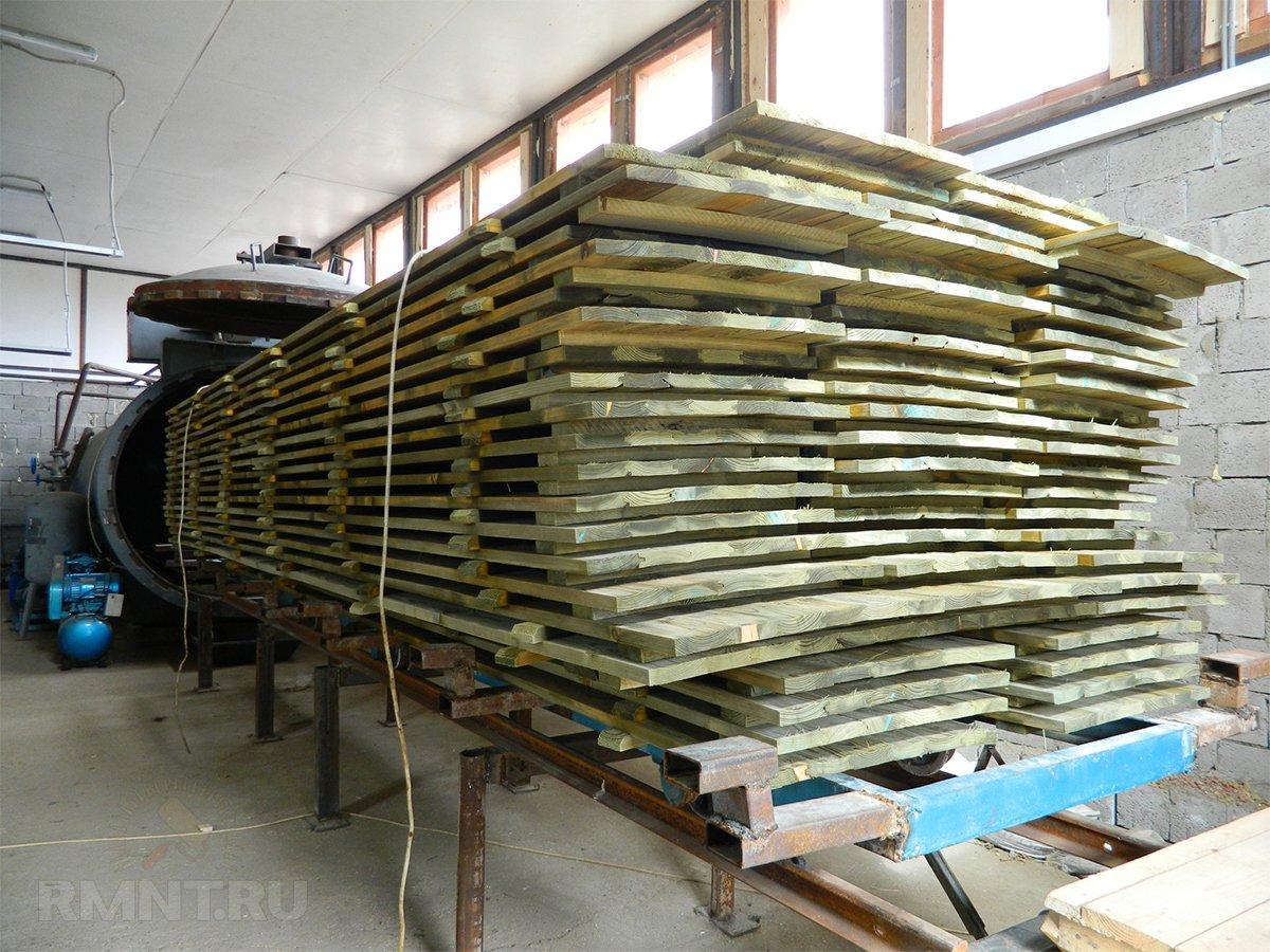 Обработка древесины в автоклаве