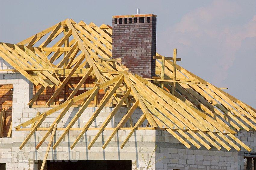 Стропильная система через дымоход дымоходы на крыше купить