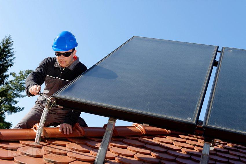 Отопление дома с помощью солнечных коллекторов