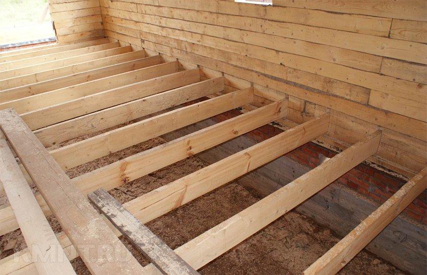 Устройство деревянного пола в доме из бруса