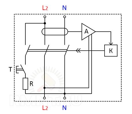 Cхема электронного УЗО