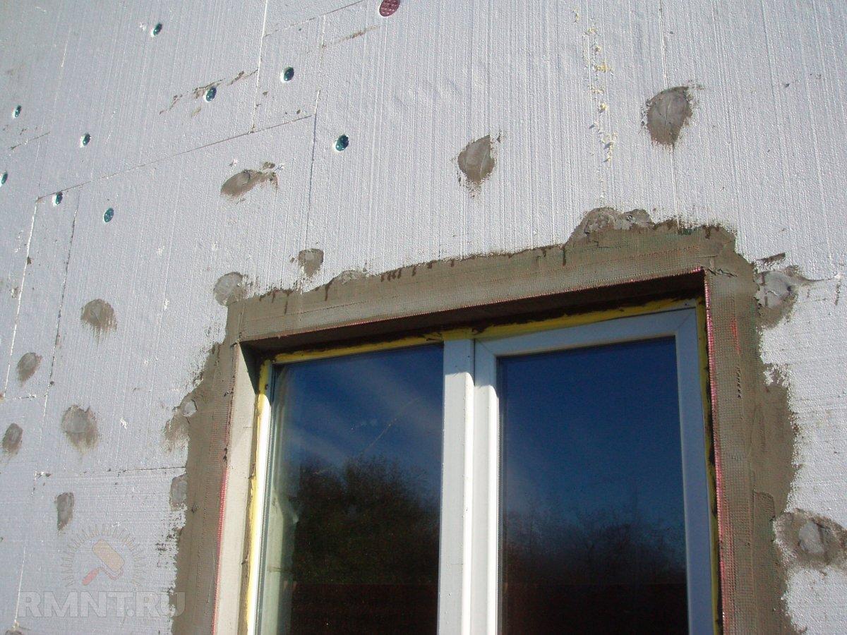 Технология штукатурки дома мокрый фасад