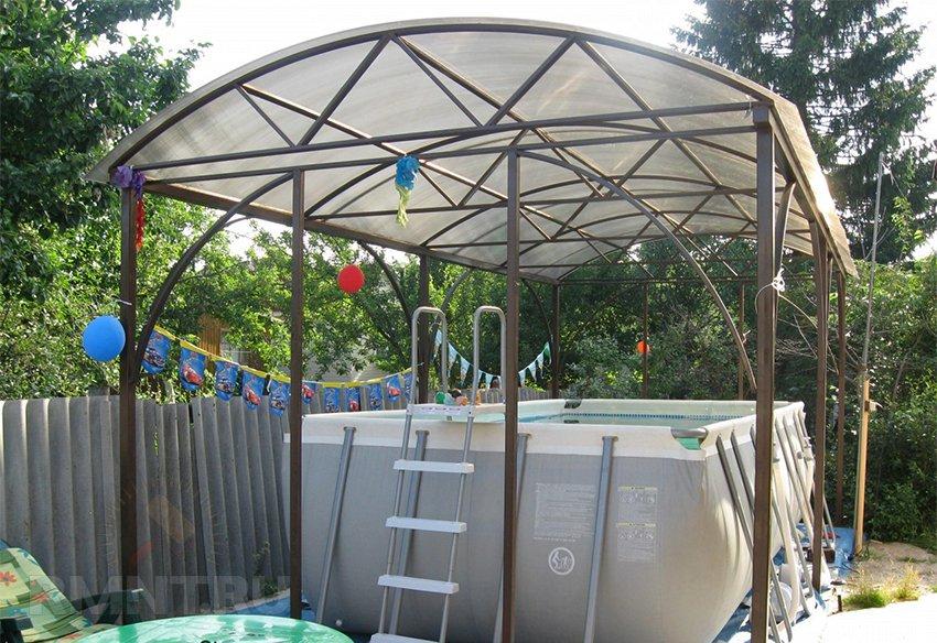 Купол для бассейна своими руками