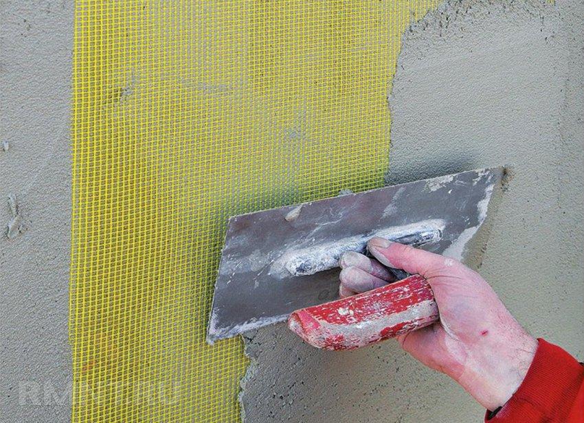 армированная штукатурка фасадных стен