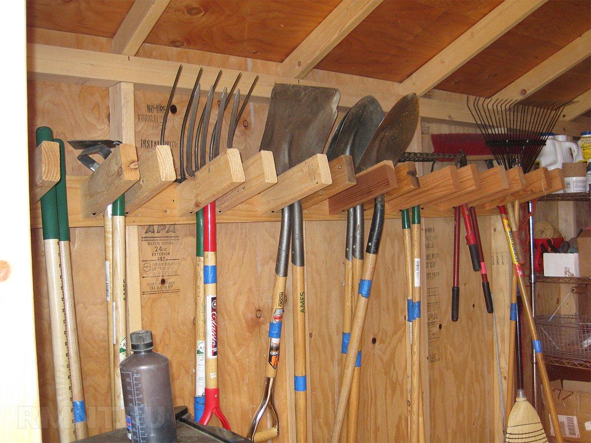 Хранение садового инвентаря своими руками фото 587