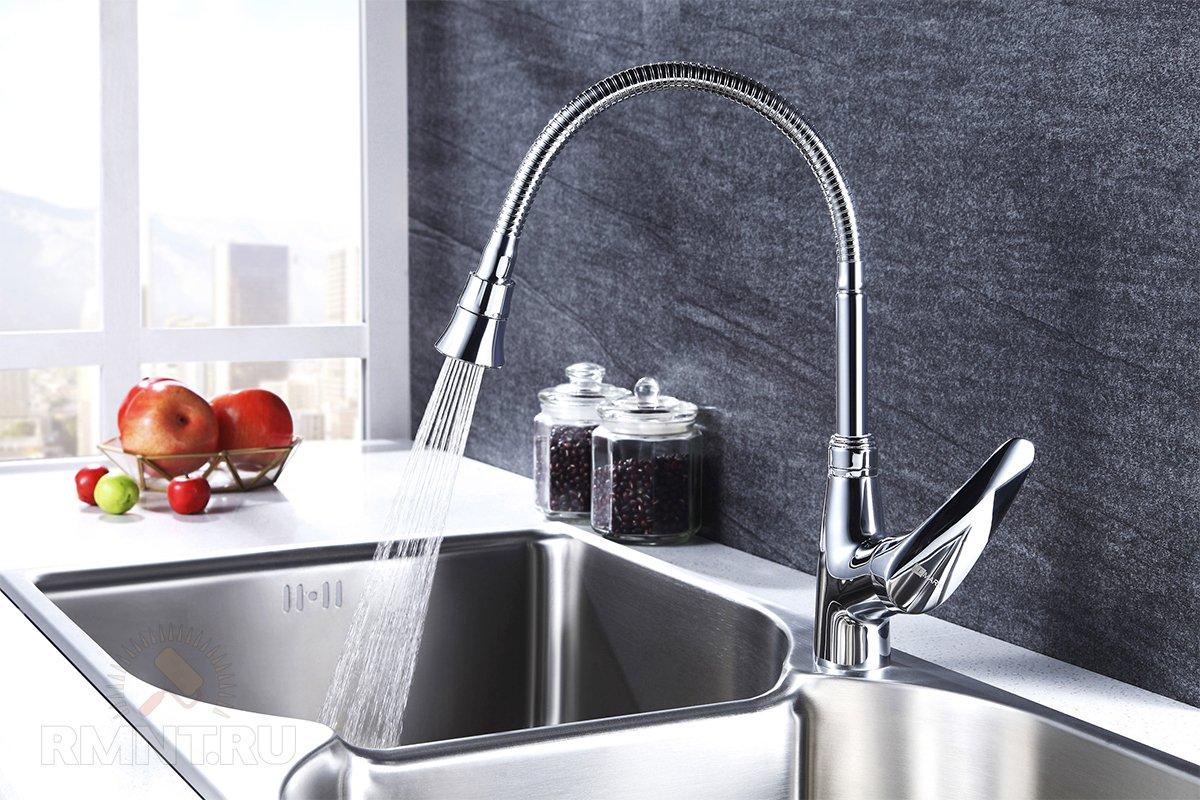 Смесители для кухни с гибким изливом
