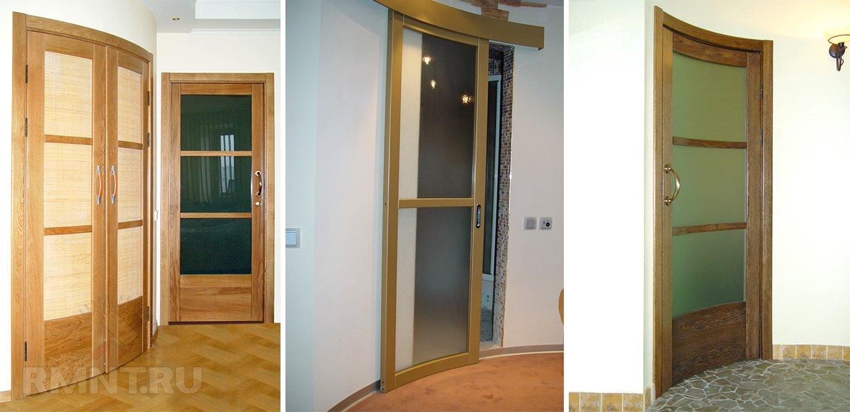 Радиусные двери в интерьере