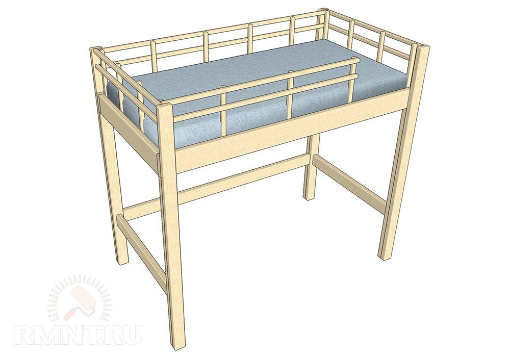 Кровать-чердак своими руками