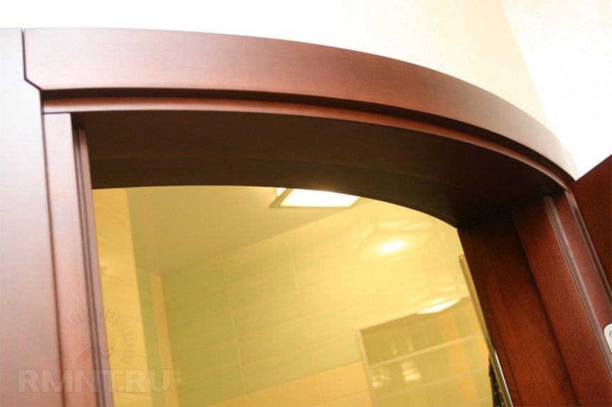 Радиусная дверь в ванную