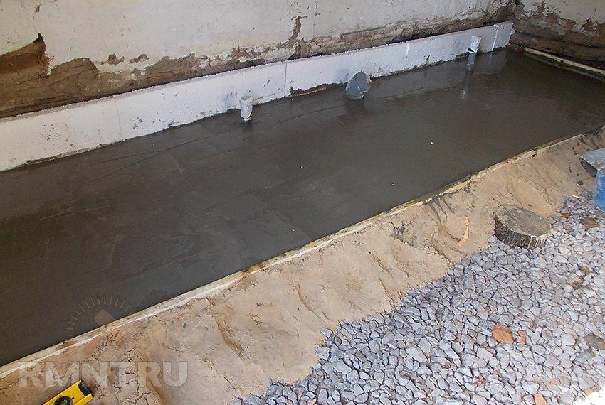 Как сделать бетонные полы в частном доме по грунту 738