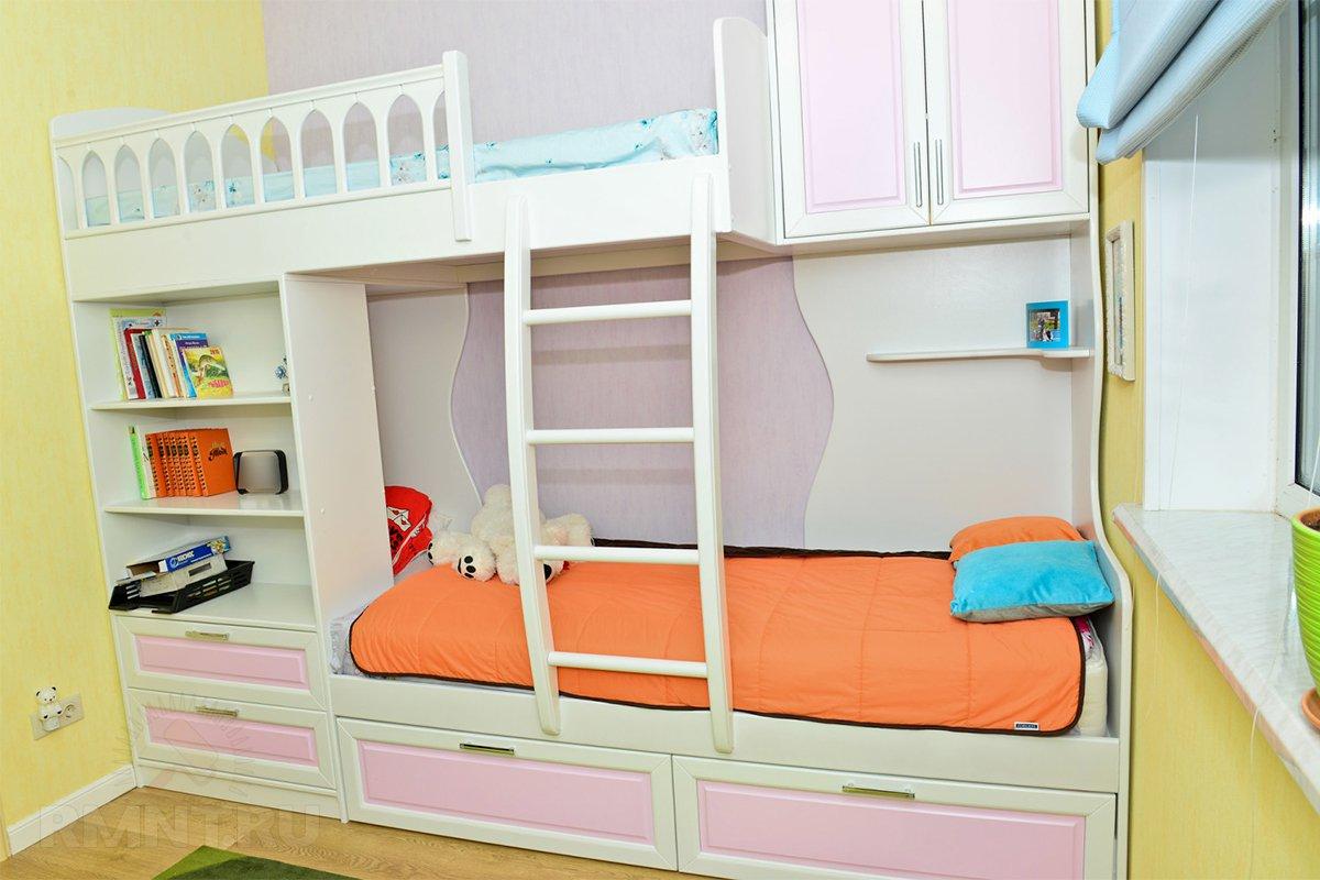 Удачное решение для детской — двуэтажная наконец-то кровать