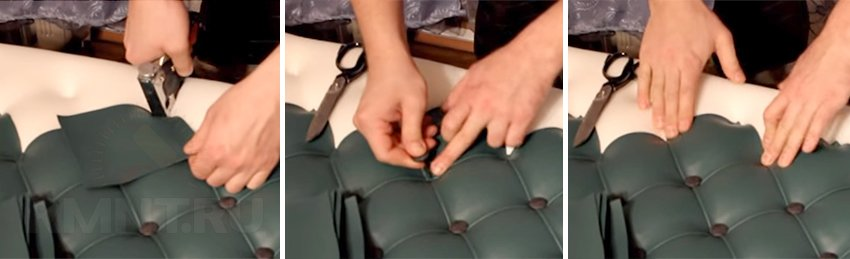 Как перетянуть стул дермантином своими руками 63