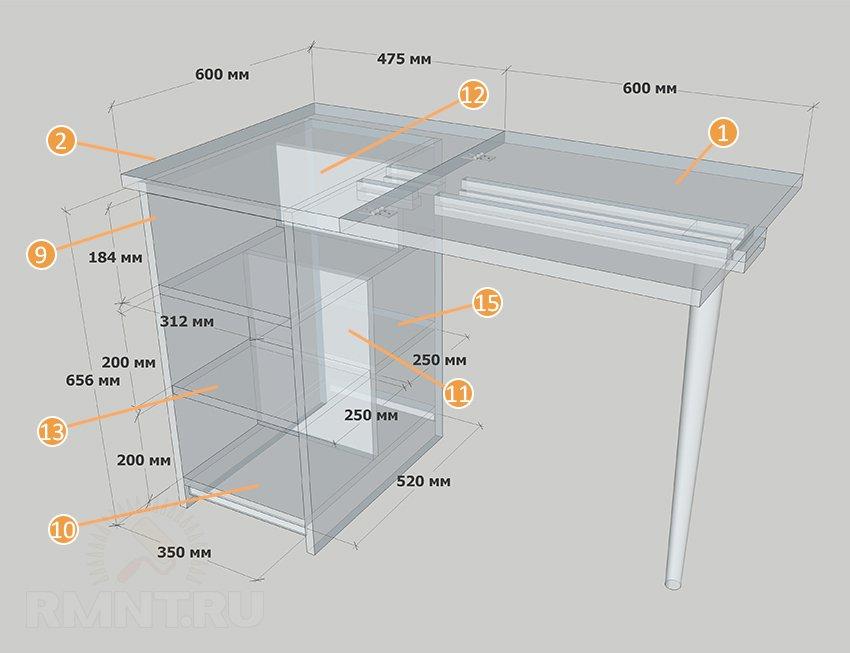 Выдвижной столик на кухне своими руками фото 301
