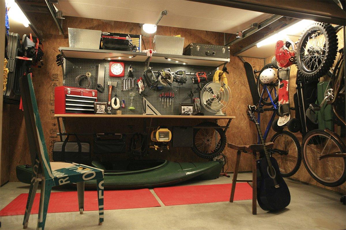 Обустройство гаража верстак своими руками
