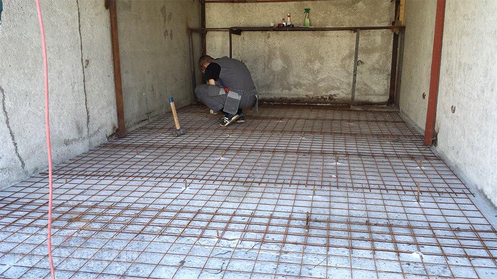бетонирование полов в гараже